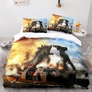Godzilla  Duvet Cover 3D Bedding Set Comforter Quilt Cover with Pillowcase 1008