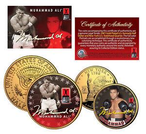 MUHAMMAD ALI New York Quarter & JFK Half Dollar 2-Coin Set *OFFICIALLY LICENSED*