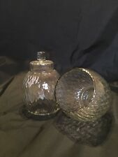 "HOMCO Diamond Optic Clear Globes PEG Votive Candle Holders 5"" #1214-BL"