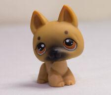 *Littlest Pet Shop* LPS Tan GERMAN SHEPHERD DOG Brown Eyes #61 MINT