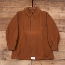 Mens Vintage 50s Brown Cotton French Railway Worker Chore Jacket Large 42 R13042