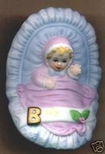Enesco Growing Up Girls Baby in Cradle Blonde Figure New