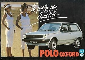 VOLKSWAGEN POLO OXFORD BROCHURE 1984/5 FRENCH MARKET    *POST FREE UK