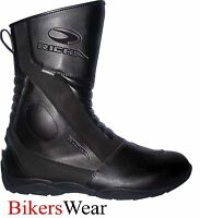 Richa ZENITH Black Touring Waterproof Motorcycle Boots all sizes+FREE SOCKS