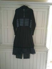 Mais il est ou le soleil Black Tunic Dress with Netting Overlay