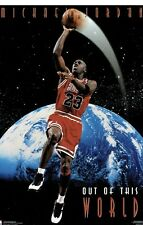 """Rare/Mint 1995 Michael Jordan """"Out of This World Poster"""" Costacos Poster"""
