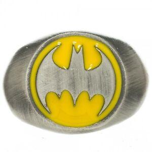 New Official DC Comics BATMAN RING Mens Womens Jewelry Size 6.5 - 8 - 9.5 COOL