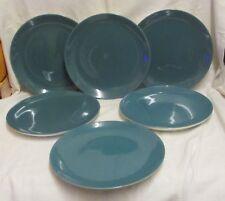 """6 10"""" Poole Blue Moon Dinner Plates"""