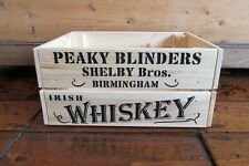 Wooden Crate, Peaky Blinders, Shelby Bros, Birmingham, Irish Whiskey