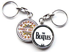 More details for the beatles classic rock band chrome keyring picture both sides