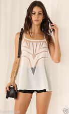 Cotton Blend Tank, Cami Geometric Tops & Blouses for Women