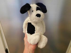 "Jellycat Bashful Puppy Dog Black Cream Super Soft Plush Stuffed Toy 12"" Spot FUN"
