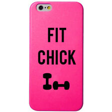 iPhone 6 Case Cover Screen Protector Shield Pink Fit Chick Gym Fitness