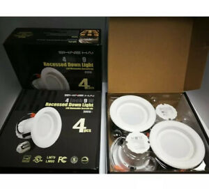 NEW x 12  4 Inch Dimmable LED Down lights, 9W , 3000k Recessed retrofit  kit