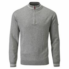 Cotton Zip Neck Patternless Long Jumpers & Cardigans for Men