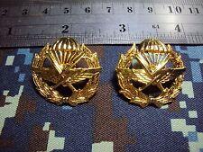 Royal Thai Air Force COMMANDO COLLAR PINS BADGE Unit insignia 1 PAIR สังกัด ทอ.