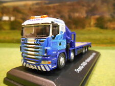 ATLAS OXFORD 1:76 EDDIE STOBART RAIL SCANIA R420 RIGID LOWLOADER & CRANE 4649126