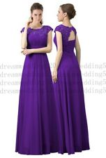 Long Chiffon Wedding Bridesmaid Dresses Formal Party Gown Ball Prom Dresses 6-30