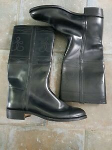Black Leather Cowboy Western Boots Eur 45 UK 10.5 EXCELLENT CONDITION Spanish