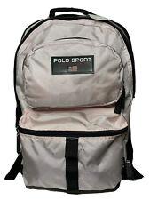 Vintage 90s Polo Sport Ralph Lauren USA Flag Backpack School Book Bag Pink New