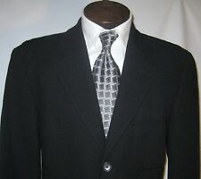 $695 Hugo Boss Black Textured Sport Coat with patch pockets size 43 01022