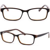Herren Damen Brille Kunststoff Rechteckig Gestell Brillengestell Fassung Schwarz
