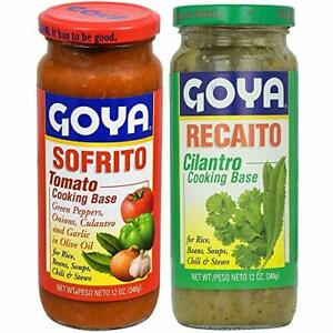 Goya Recaito & Goya Sofrito Cooking Base 2 - 12 Oz Jars 1 of Each