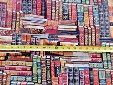 Book Books Metallic Inlay Library CM8214 Timeless Treasures Cotton Fabric NICE