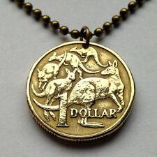 1984 Australia 1 Dollar coin pendant kangaroo roos wallaby Sydney Darwin n001283