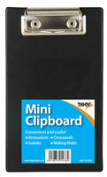 A6 Mini Clipboard Small Clip Board for Orders Restaurants/Pubs/Bar/Sudoku Black