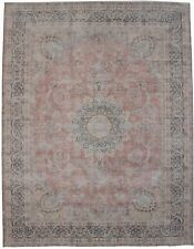 New listing Muted Antique Floral Medallion 10X13 Distressed Area Rug Oriental Decor Carpet