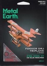 Fascinations Metal Earth FOKKER DR.I TRIPLANE 3D Laser Cut Steel DIY Model Kit