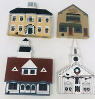 The Cats Meow Village 4 Piece Lot 1987 Maine Christmas Series