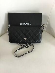 Authentic Chanel Wallet Black WSH and Chain