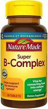 SUPER B-COMPLEX Vitamin C B1 B2 B3 B6 Folic Acid B12 Boost Energy Antioxidant