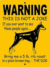 "Doberman Pinscher Dog Sign, 9""x12"" Aluminum,Guard Dog Sign,Security,Gate,Wnajdp"