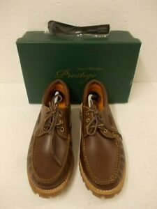 Samuel Windsor Hand Made Brown Leather Deck Shoes Size 8 with Shoe Horn