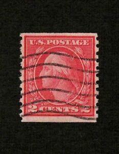 US 1917 #492 - 2c Carmine George Washington Coil Used