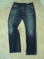 Mens Hugo Boss Button Fly Regular Jeans W34 L32 Factory Distressed Torn