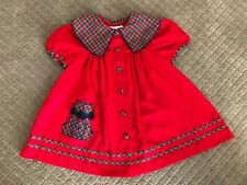Vintage Bonnie jean 1980's  Red Toddler girls Dress size 2T
