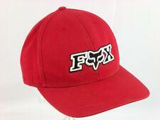 Fox Head Trucker Hat Canvas Adjustable Snapback Unoique Snap Red Logo