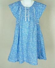 Boutique Eternal Creation Blue Country Ditsy Floral Dress Sz 4 Girls Cotton Lace