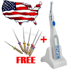 US Dental Wireless Endodontic Endo Motor Treatment + Contra Angle + Rotary Files