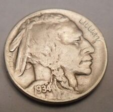 "1934 D INDIAN HEAD ""BUFFALO"" NICKEL  **FREE SHIPPING**"