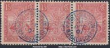 MADAGASCAR BANDE DE 3 N° 68 AVEC CACHET DE FORT DAUPHIN DU 31/10/1907
