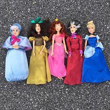 "Disney rare dolls cinderella stepsisters lady tremaine fairy godmother LOT 11"""