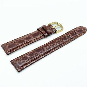 Bracelet Montre Véritable Cuir façon Alligator Crocodile Marron 16 18 20mm