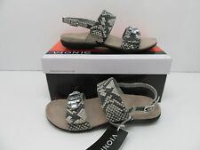 Vionic Orthaheel Dupre Open Toe Sandals Natural Snake Size 7 M