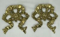 Mid Century Modern Solid Brass Bow Hanging Wall Hook Hangings MCM Regency BR2