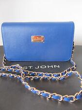 NWT St John Knit handbag  blue azure leather